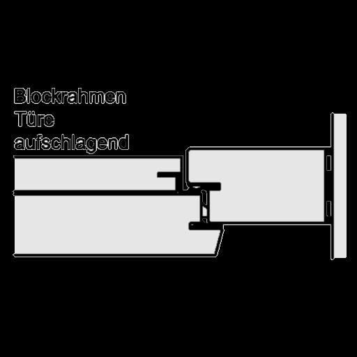 Blockrahmen – Türe aufschlagend