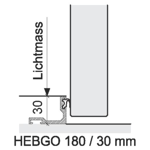 Bodenabschlüsse Innentüren – HEBGO 180 / 30 mm
