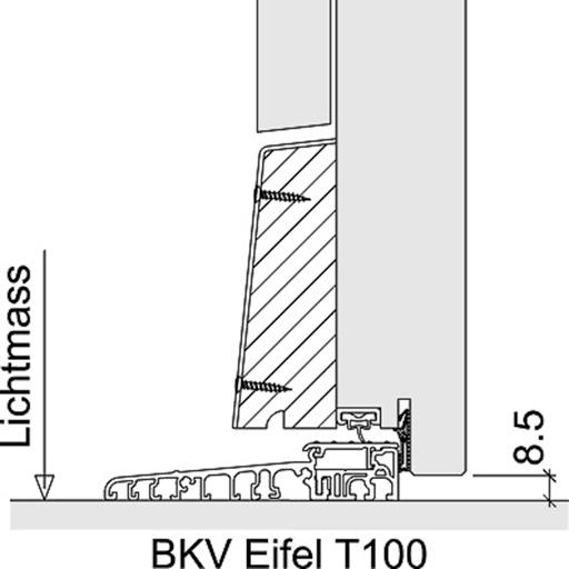 Bodenabschlüsse Aussentüren BKV Eifel T100