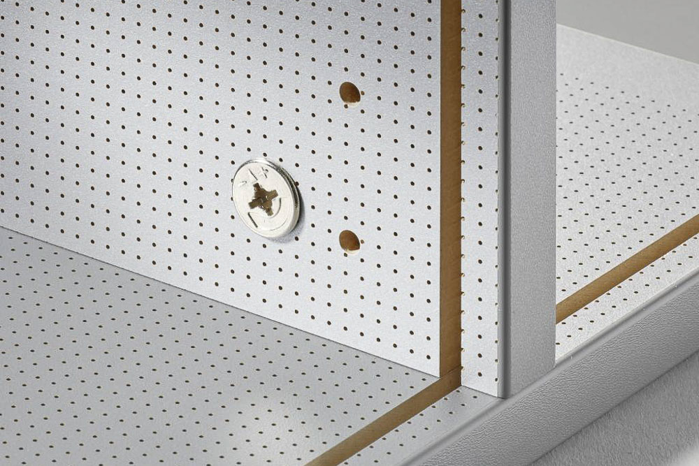 MDF Melaminharzbeschichtete Konstruktion im Detail